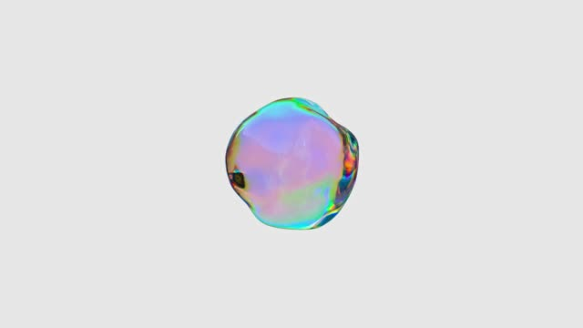 rainbow gradient abstract shape 3d rendering motion - single object stock videos & royalty-free footage