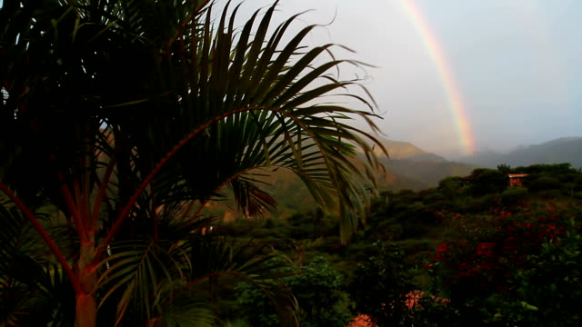 rainbow in andean landscape. - loja stock videos and b-roll footage