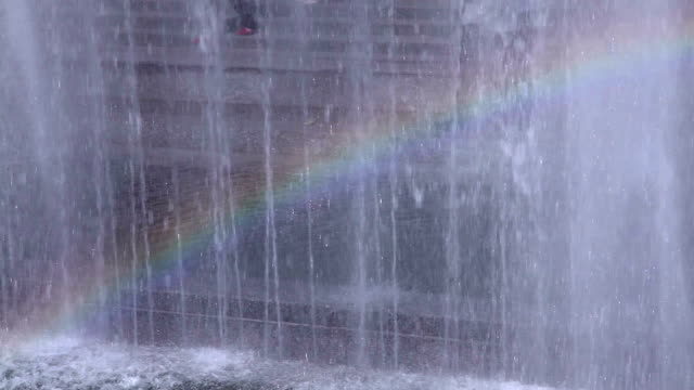 rainbow in the fountain - marble rock stock videos and b-roll footage