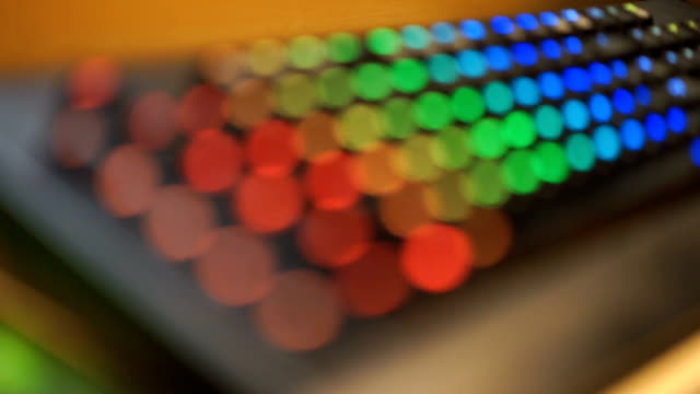 rainbow led computer keyboard - 3shots - mack2happy stock videos and b-roll footage