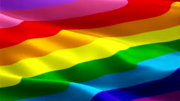 Rainbow LGBT flag diversity waving 9 Stripes. Pride 3d Gay flag waving Isolated. diversity Rainbow seamless loop animation. Gay pride flag HD resolution Background. Homosexual Rainbow flag LGBT Closeup 1080p HD video LGBTQI