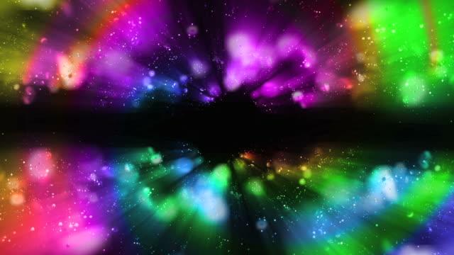 vídeos y material grabado en eventos de stock de bucle de fondo de luces de rainbow - arco iris