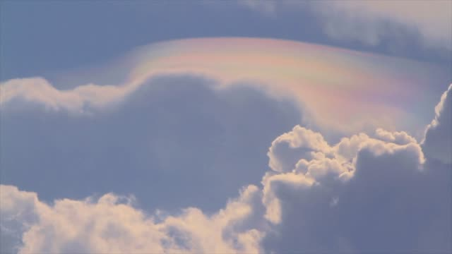 Rainbow On White Cloud