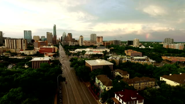rainbow over austin texas - wide stock videos & royalty-free footage