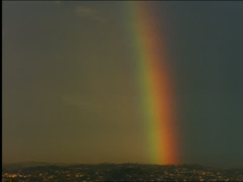 rainbow over city of los angeles - cinematography stock videos & royalty-free footage