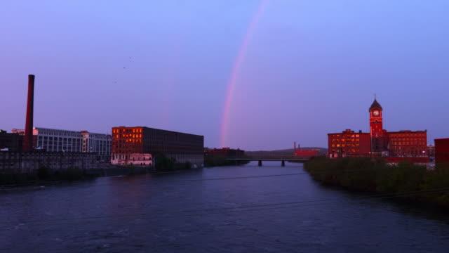 Rainbow over Lawrence, Massachusetts