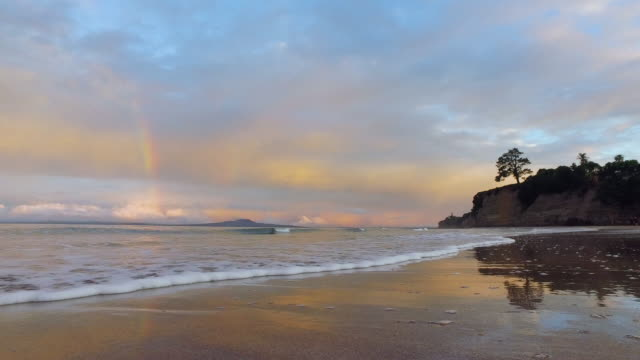Rainbow over Rangitoto Island