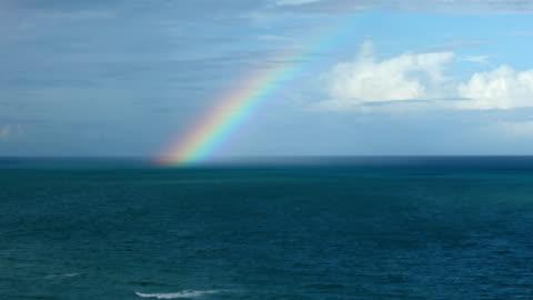 rainbow over the sea - rainbow stock videos & royalty-free footage