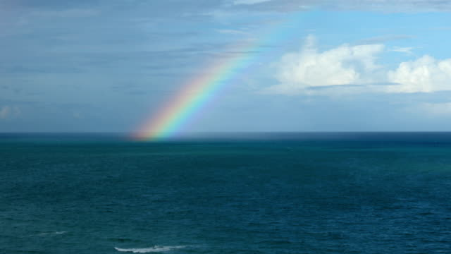 rainbow over the sea - spectrum stock videos & royalty-free footage