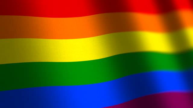 rainbow peace flag - loop. 4k. - symbol stock videos & royalty-free footage