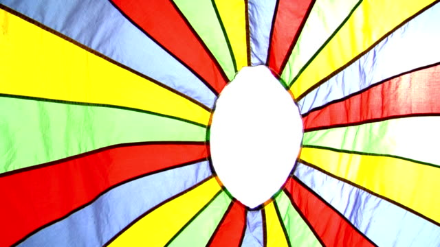 rainbow rays - parachuting stock videos and b-roll footage