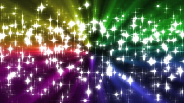 rainbow sparkles background loop - rainbow stock videos & royalty-free footage