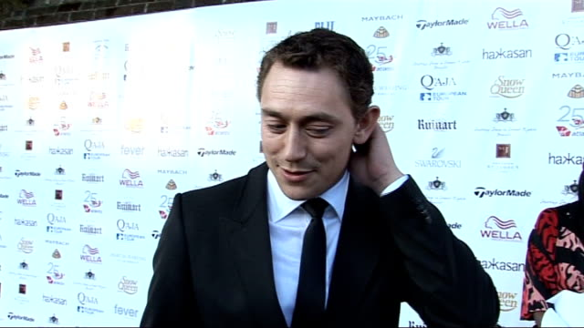 Rainbow Trust and Samuel L Jackson Foundation Gala JJ Feild interview SOT How he became involved in Samuel L Jackson Foundation / On playing golf...