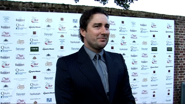 Rainbow Trust and Samuel L Jackson Foundation Gala Luke Wilson interview SOT On playing golf with Samuel L Jackson and Alice Cooper / On new project...