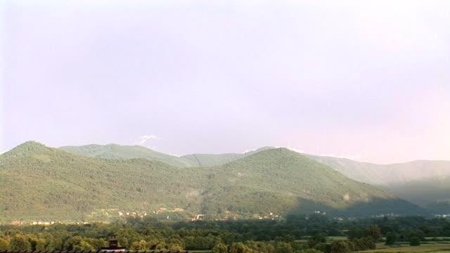 hd: rainbow - slovenia meadow stock videos & royalty-free footage