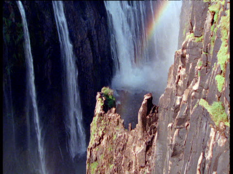 rainbows over victoria falls - victoria falls stock videos and b-roll footage