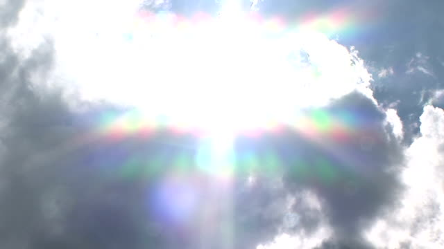 rainbows start to form as sunlight shines through storm clouds. - spectrum stock videos & royalty-free footage