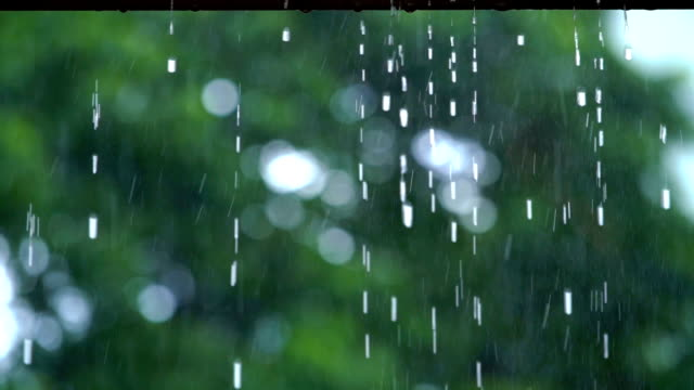 slo mo raindrop from roof - trapped stock videos & royalty-free footage