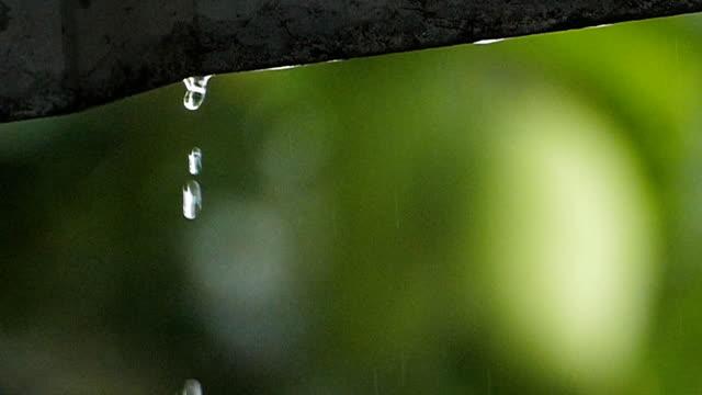 raindrop slow motion - torrential rain stock videos & royalty-free footage