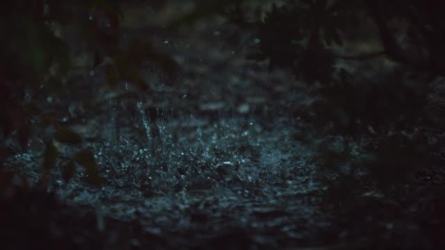 regndroppar falla och plaska i en vattenpöl - lera jord bildbanksvideor och videomaterial från bakom kulisserna