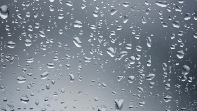 raindrops falling down a window