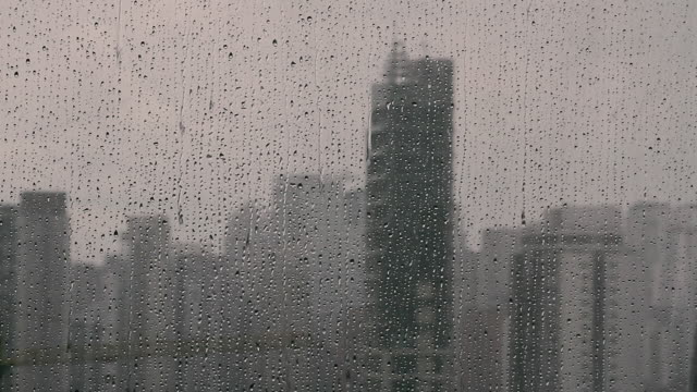 raindrops on window / são paulo, brazil - são paulo stock videos & royalty-free footage