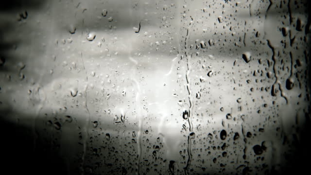 raindrops on window (loopable) - raindrop stock videos & royalty-free footage