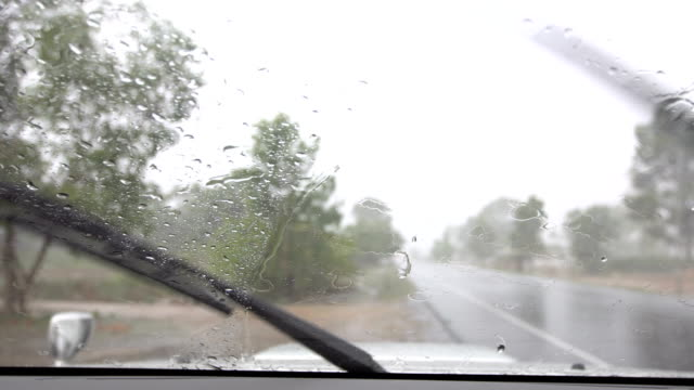 raindrops on windshield - traffic accident stock videos & royalty-free footage