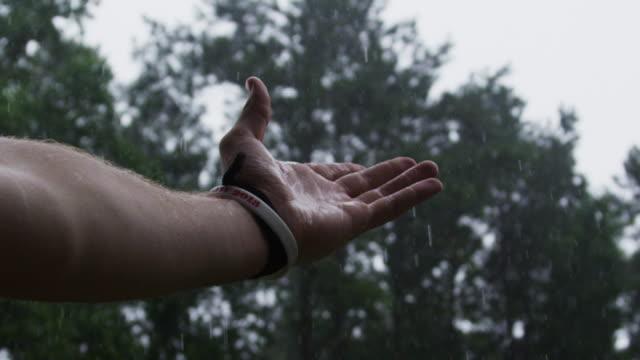 Rainfall, slow motion