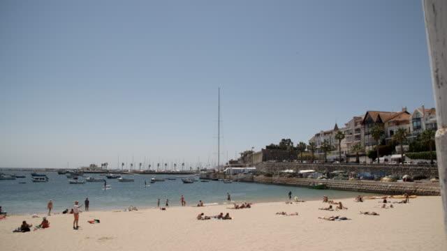rainha beach / lisbon, portugal - cascais stock videos and b-roll footage