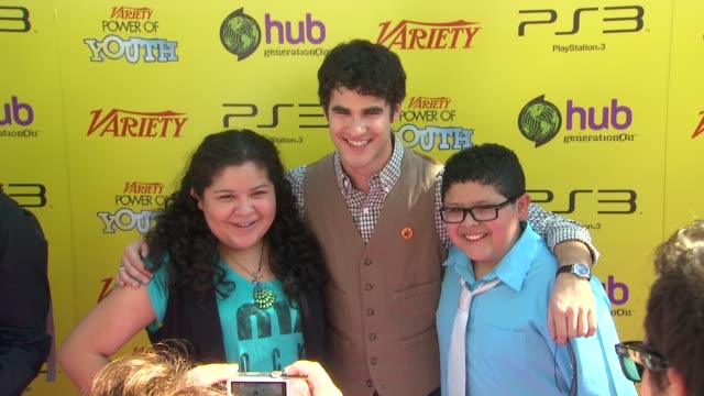 Raini Rodriguez Darren Criss Rico Rodriguez at the Variety's 5th Annual Power Of Youth Event at Los Angeles CA