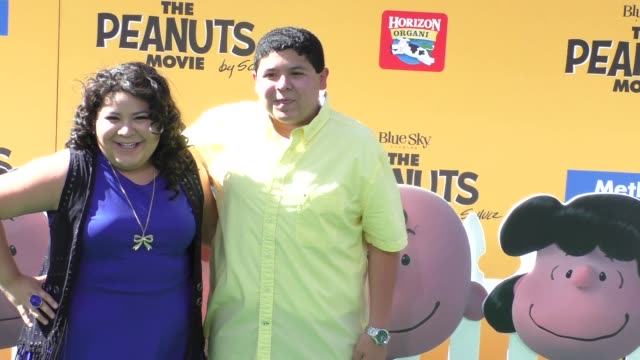 raini rodriguez & rico rodriguez at the peanuts movie premiere at regency village theatre in westwood on november 01, 2015 in los angeles, california. - regency village theater stock videos & royalty-free footage