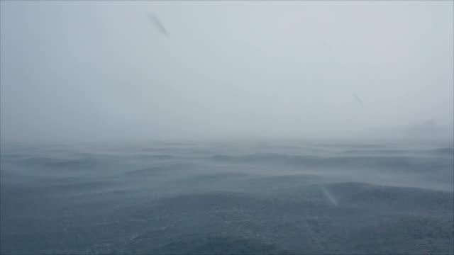 Raining at the sea