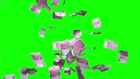 raining money stock video 500 euro over green screen chroma key background - luck stock videos & royalty-free footage