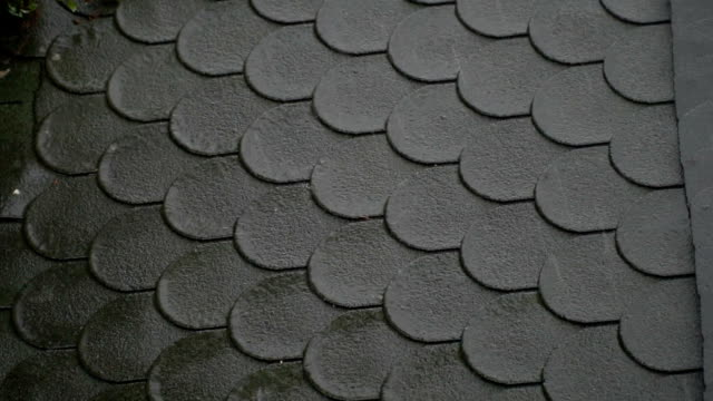 raining on roof - roof tile stock videos & royalty-free footage