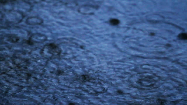 Raining on street