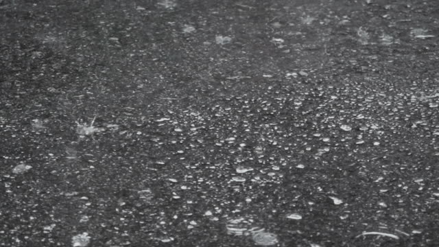 raining out of the street. raindrop on concreate floor. - doorway stock videos & royalty-free footage