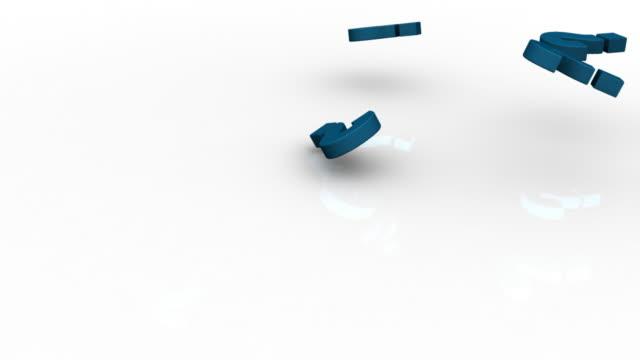 vídeos de stock, filmes e b-roll de raining perguntas - símbolo conceitual