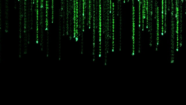raining random data codes - binary code stock videos & royalty-free footage
