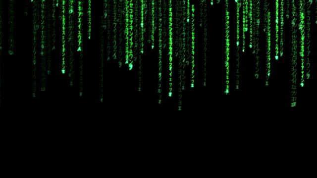 raining random data codes - computer language stock videos & royalty-free footage