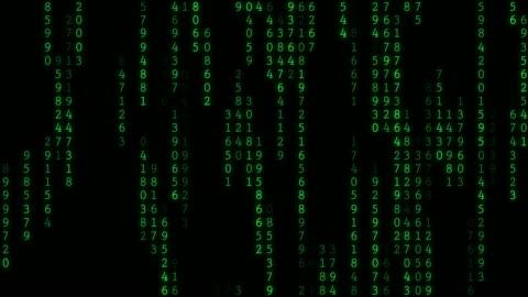 4k raining random data codes - number stock videos & royalty-free footage