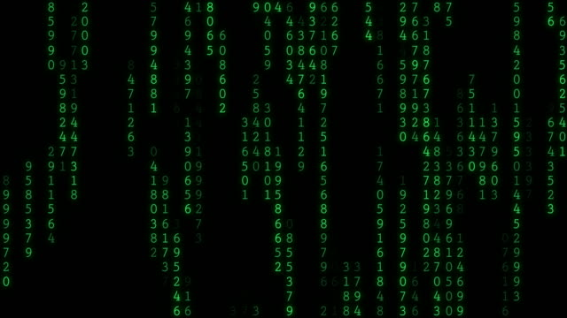 4k raining random data codes - binary code stock videos & royalty-free footage