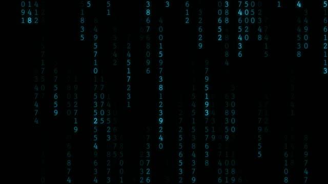 4 k regnen zufällige daten-codes - binärcode stock-videos und b-roll-filmmaterial