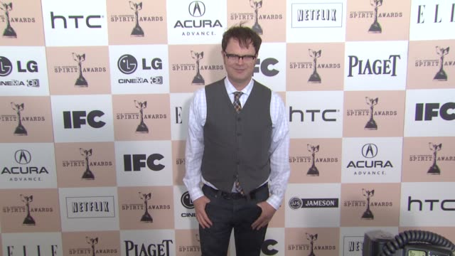 rainn wilson at the 2011 independent spirit awards arrivals part 2 at santa monica ca - independent feature project stock videos & royalty-free footage