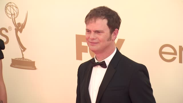 rainn wilson at the 63rd primetime emmy awards arrivals part 1 at los angeles ca - 63rd annual primetime emmy awards stock videos and b-roll footage