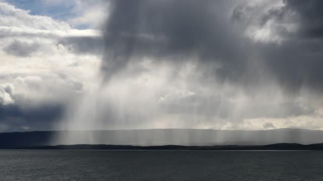 Rainstorm over Coastal Landscape