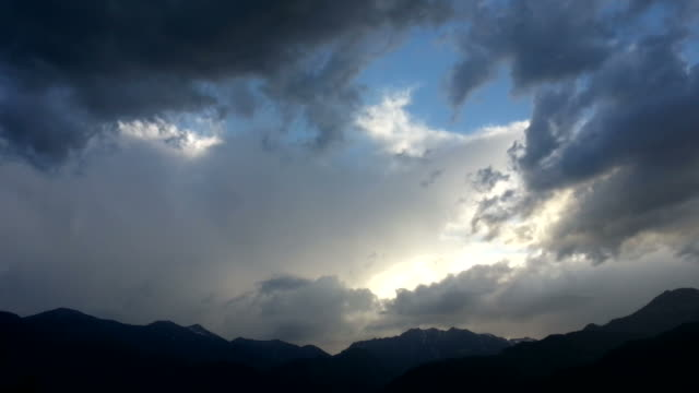 Rainstorm over the Alps, HD Timelapse Video