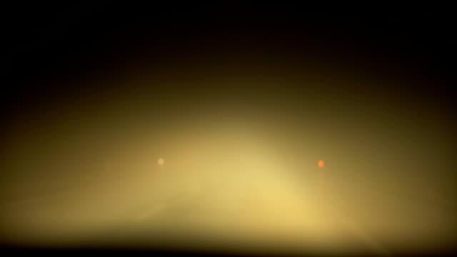 Rainy and Foggy Night Drive