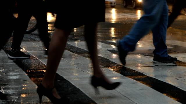 Rainy Crosswalk in New York City