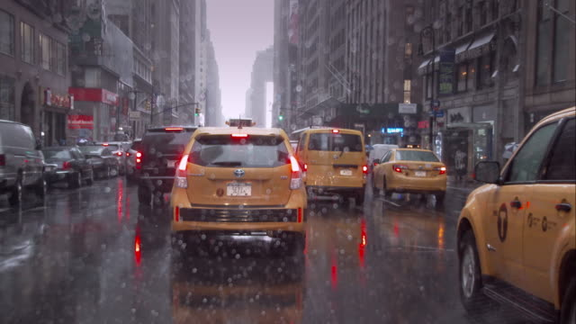 rainy day in manhattan - following stock videos and b-roll footage
